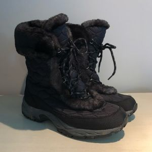 L.L. Bean Black Winter Boots Faux Fur Women's 11M